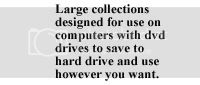 large collections of audio books on dvd. designed to be saved on to a computer's hard drive then transfered to cd or mp3 players