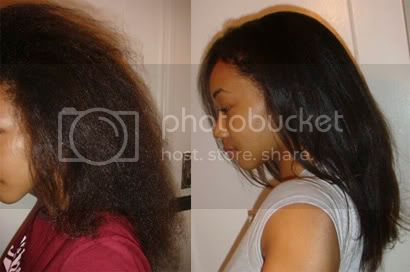 Transition to Natural Straight Hairstyle